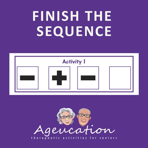 Finish the sequence ageucation game for alzheimers dememtia and memory loss