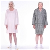 adaptive pajamas for men and woman hospital gown style cotton pajamas with velcro dignity pajamas