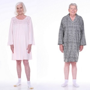 Adaptive Pajamas For Men And Women Home Care Line Dignity Cotton Pajamas With Velcro Hospital Gown Style For Easy Dressing Alzstore