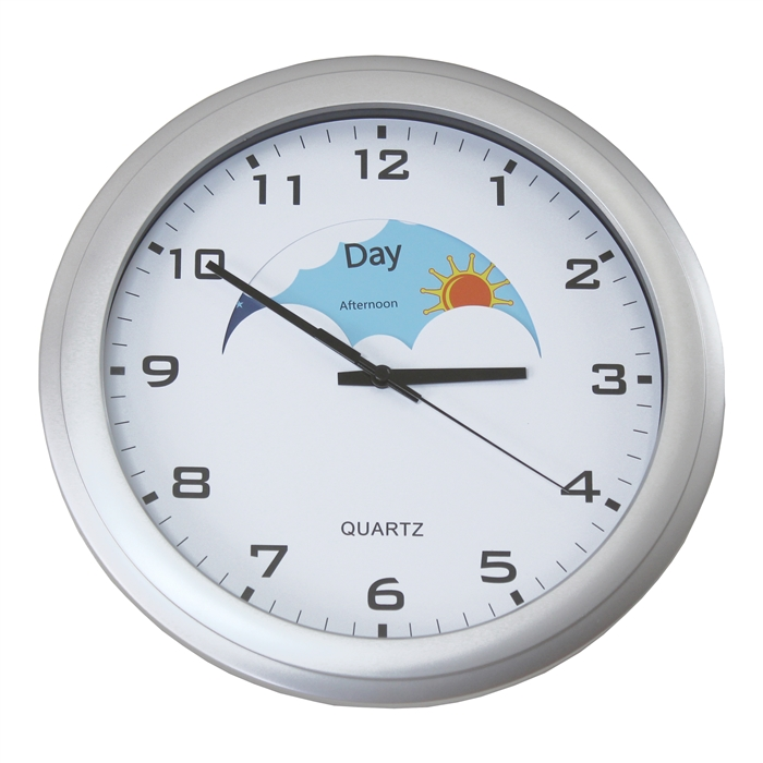 day and night clock i clocks for dementia i alzstore. Black Bedroom Furniture Sets. Home Design Ideas