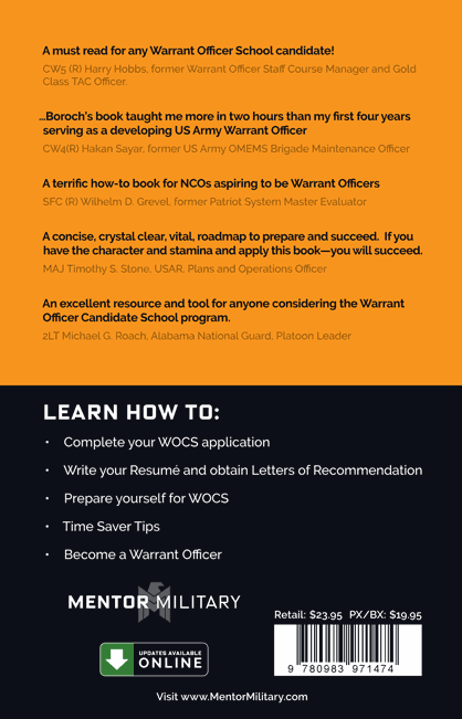 surviving wocs a guide to applying for the warrant officer rh mentormilitary com Warrant Officer Symbol Warrant Officer Crest