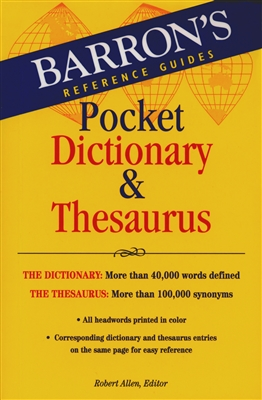 Barron's Pocket Dictionary & Thesaurus - Mentor Military