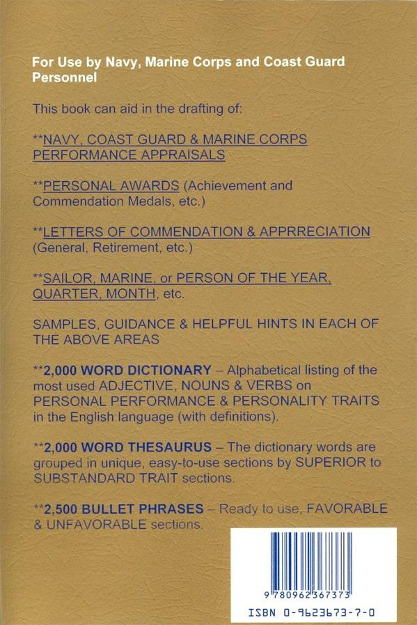 Navy marine corps performance writing guide spiritdancerdesigns Image collections