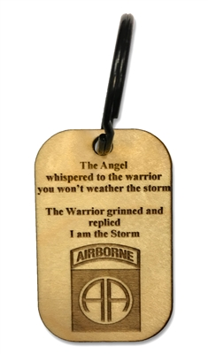 82nd Aiirborne Medallion Key Ring