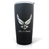 U.S.Air Force Laser Engraved Black Textured Powder Tumbler