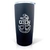 U.S.Navy Laser Engraved Textured Black Powder Tumbler