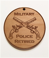 Military Police Retired Medallion