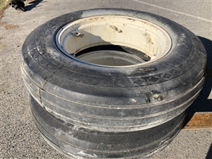 Used 11.25x28 Good Rib Implement Tire w/ Rim
