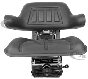 Universal Tractor Seat with Suspension Black