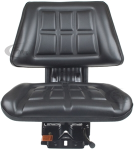 Trapezoid Tractor Seat with Suspension Black