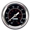 Viair Black Faced, 220 PSI Single Needle Air Gauge 90090