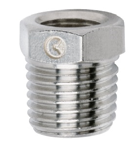 "3/8"" Male 1/8"" Female Reducer Nickel Plated"
