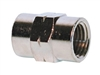 "3/8"" Female NPT Coupler Nickel Plated"
