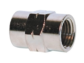 "1/2"" Female NPT Coupler Nickel Plated"