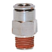 "1/8"" Hose 1/4"" NPT Straight Fitting Nickel Plated"