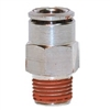 "3/8"" Hose 1/4"" NPT Straight Fitting Nickel Plated"