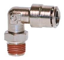 "1/4"" Hose 1/4"" NPT 90* Fitting Nickel Plated"