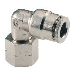"1/4"" Hose 1/8"" Female NPT 90* Fitting Nickel Plated"