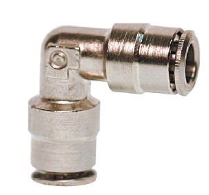 "3/8"" Hose Union 90* Nickel Plated"