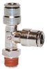 "1/4"" Hose 1/8"" NPT Run Tee Nickel Plated"