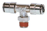 "3/8"" Hose 1/4"" NPT Branch Tee Nickel Plated"