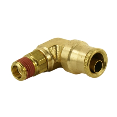 "1/2"" Hose 1/4"" NPT 90 Deg Push-to-Connect"
