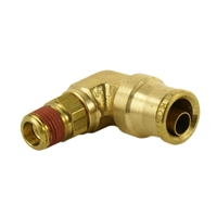 "3/8"" Hose 1/4"" NPT 90 Deg Push-to-Connect"