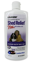 Linatone Shed Relief Plus added Zinc, 16 Ounces