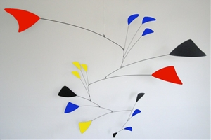 color calder style hanging mobile