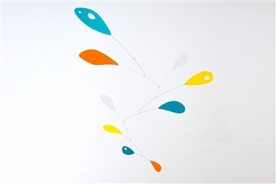 large multi-colr mid-century modern hanging mobile