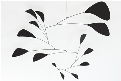 black mid-century modern style hanging mobile