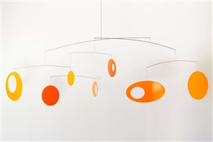 orange mid-century modern hanging mobile