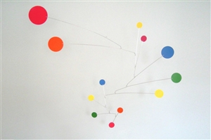 rainbow color modern calder style hanging mobile