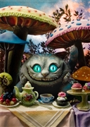 Disney Cheshire Cat Alice's Adventures in Wonderland 3D Lenticular Greeting Card
