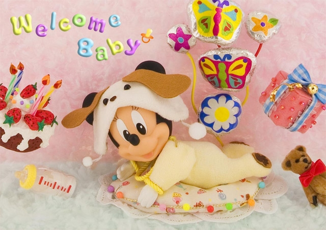 Disney welcome baby 3d lenticular greeting card premium greeting disney welcome baby 3d lenticular greeting card m4hsunfo