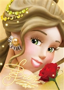 Disney Princess Belle Close-up Series 3D Lenticular Card