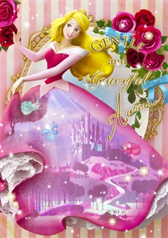 Disney Princess Aurora Dress Theater 3D Lenticular Card