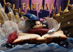 Disney FANTASIA Mickey The Sorcerer's Apprentice 3D Lenticular Greeting Card
