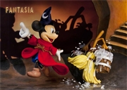 Disney FANTASIA Mickey and Broom 3D Lenticular Greeting Card