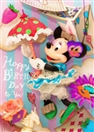 Disney Minnie Fashion Collection 3D Lenticular Birthday Greeting Card