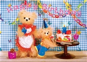 Teddy Bear Birthday Party 3D Lenticular Greeting Card