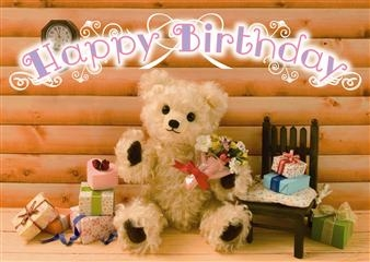 Happy Birthday Teddy Bear 3D Lenticular Greeting Card