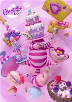 Cheshire Cat Birthday 3D Lenticular Greeting Card