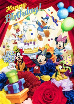 Disney Mickey and Friends Bouquet Series Birthday 3D Lenticular Card