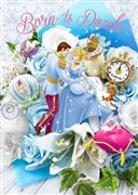 Disney Princess Cinderella Bouquet Series Birthday 3D Lenticular Card