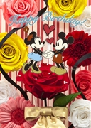 Disney Mickey and Minnie Bouquet Series Birthday 3D Lenticular Card