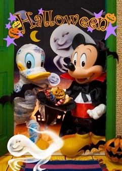 Disney Mickey Ghost Street 3D Lenticular Greeting Card