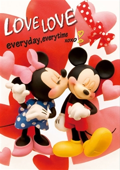 Disney Mickey & Minnie Love Love 3D Lenticular Greeting Card