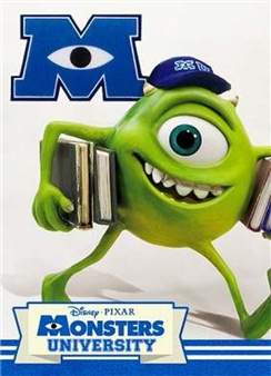 Disney Pixar Mike in Monsters University 3D Lenticular Greeting Card
