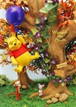 Disney Winnie the Pooh with Balloon 3D Lenticular Greeting Card